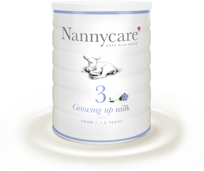Growing up milk from nanny care
